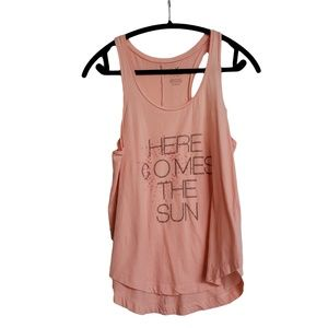 AMERICAN EAGLE Peach Summer Graphic Muscle Tee M